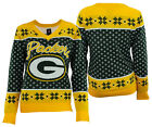 Forever Collectibles NFL Women's Green Bay Packers Big Logo V-Neck Sweater $34.99 USD on eBay