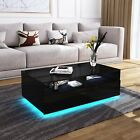 Modern Rectangle Coffee Tea Table All High Gloss With 4 Storage Drawers