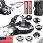 150000LM 5XT6 LED Headlamp Rechargeable Head Light Flashlight Torch Lamp 18650 @