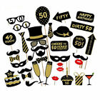 16/18/21st/30/40/50/60th 36x Birthday Party Photo Booth Props Party Favor Decor
