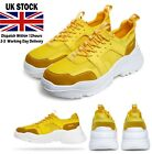 Mens Yellow  Sports Trainers sales Chunky Shoes Outdoor Casual low top shoe