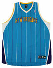 Adidas NBA Basketball Men's New Orleans Hornets Blank Jersey, Teal Striped on eBay