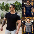 Fashion Mens Slim Fit O Neck Short Sleeve Muscle Tee T shirt Casual Tops Blouse