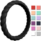 Enso Rings Braided Stackables Series Silicone Ring