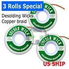 1~5 pack 5 ft 2.0mm Desoldering Copper Braid Solder Remover Wick *USA Seller*