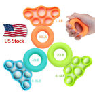 Finger Hand Exerciser Strengthener Wrist Forearm Grip Trainer Resistance Band US image