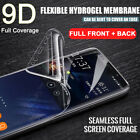 For Samsung Galaxy S10 Plus S10e Front Back Curved Clear Screen Protector Cover