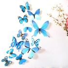 12 x 3D Decal Colourful Butterflies Wall Stickers Home Decor Y