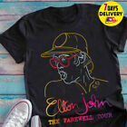 Elton John The Farewell Tour Fans T Shirt Black Size S-3XL image