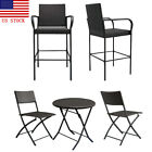 New Outdoor Patio Wicker Rattan Garden Furniture Set 2pc Chair+1pc Coffee Table