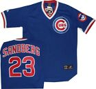 New Ryne Sandberg Chicago Cubs Throwback Royal Jersey Majestic A6240 on Ebay