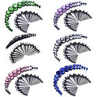 BodyJ4You 36PC Gauges Kit Ear Stretching 14G-00G Steel Tapers Marble Plugs Set image