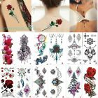 Gothic Temporary Tattoo Sticker Waterproof Jewelry Flower Pattern Choker Pendant $1.98 USD on eBay