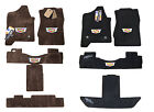 Cadillac ESCALADE Floor Mats - ESV - Jet Black & Cocoa Brown - 32OZ 2PLY Quality