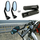 """1 SET MOTORCYCLE Black BAR END REARVIEW SIDE MIRRORS / 7/8"""" HAND GRIPS UNIVERSAL $7.65 USD on eBay"""