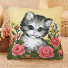 DIY Horse Dog Cat Wolf Latch Hook Kit Pillow Cushion Making for Kids Adults