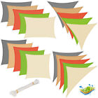 Sun Shade Sail Breathable Sunscreen Awning Canopy Yard Garden Various Sizes u205