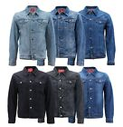 Red Label Men  s Premium Casual Faded Denim Jean Button Up Cotton Slim Fit Jacket