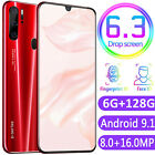 "P35 Pro 6gb+128gb 6.3"" Android 9.1 Dual Sim Unlocked 8+16mp Face Mobile Phone Au"