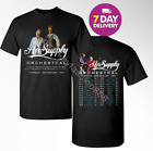 Air Supply Orchestral Tour dates 2019 black Gildan 2 Side T Shirt.Size S-3XL. image