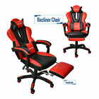 Racing Style Office Gaming Chair Pu Leather Recliner Computer Desk Seat Footrest