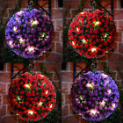 28cm Solar Powered Hanging Round Topiary Ball 20 LED Flower Lights Garden Home