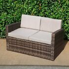 Baner Garden Rattan 2 Seater Patio Loveseat with Cushions