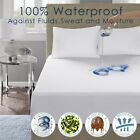 Waterproof Mattress Protector Hypoallergenic Bed Cover Cotton Pad King Queen image