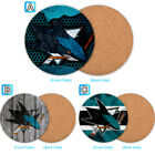 San Jose Sharks Wood Coaster Cup Drink Mat Pad Placemat Tea $3.49 USD on eBay