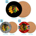 Chicago Blackhawks Wood Coaster Cup Drink Mat Pad Placemat Tea $3.49 USD on eBay