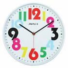 Maples Sales Plastic 12 in. Wall Clock with Multicolor Numbers - White