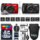 Olympus Tough TG-5 Digital Camera - Black Or Red + Case + 32GB - Essential Kit