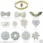 10 Wholesale Job Lot Pearl Vintage Bridal Brooch Crystal wedding flower gifts