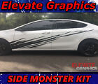 Fits Dodge Dart Side Monster Stripes Vinyl Graphics 3M Decals Stickers 2013-2020 $79.99 USD on eBay