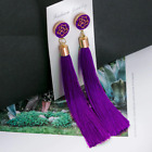 Long Tassel rose gold Earrings Dangle Long Drop Tassle Fringe Trendy Fashion UK