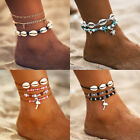 97Styles Gold Silver Anklet Ankle Bracelet Foot Chain Heart Beads Pineapple Rope image