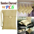 10Pcs Bamboo Charcoal Activated Carbon Air Freshener Bags Car Purifier Deodorant