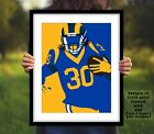 TODD GURLEY Los Angeles Rams Photo Art 8x10 or 11x14 - LA Football Picture Print $6.95 USD on eBay