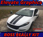 Dodge Dart Boss Rally Stripes Hood Graphics Vinyl Decals 3M Stickers 2013-2020 $69.99 USD on eBay