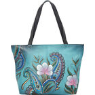 ANNA by Anuschka Large Tote 4 Colors Leather Handbag NEW