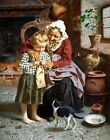 Her First Lesson by Eugenio Zampighi. Highest Quality Made in U.S.A. Prints