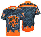 Klew NFL Men's Chicago Bears Thematic Skyline Polo Shirt $39.99 USD on eBay