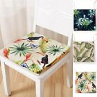 Squre Tropical Plant Animal Linen Cushion Seat Pad Dining Room Tie On Chair Mat