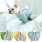 New Pet Dog Cat Hooded Coat Puppy Dog Summer Hoodie Jacket Jumpsuit Apparel