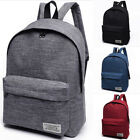 US Women Men Shoulder Canvas Backpack Rucksack School Book Travel College Bag image