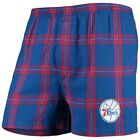 Concepts Sport Philadelphia 76ers Royal Homestretch Flannel Boxer Shorts on eBay