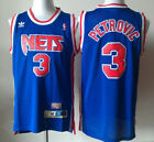 New Jersey Nets #3 Drazen Petrovic Retro Basketball Jersey Blue Size: S-XXL