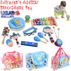 12Pcs Children's Musical Instrument Toy Set Wooden Percussion Toy Kit US STOCK