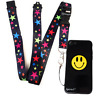 siPhone 8 7 SMILEY Back Case & Neck Lanyard Spirius Holder RAINBOW STARS