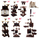 "48""52""62""66""80""101""Cat Tree Play House Tower Condo Furniture Scratch Post Basket"